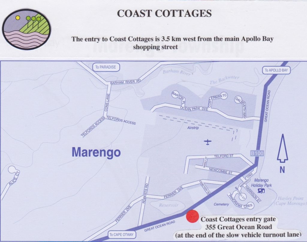 Coast Cottages Location Map